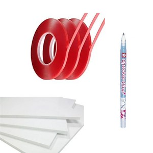 Adhesive Kit - Includes Glue Pen, Double Sided Tape, Foam Pad Sheets
