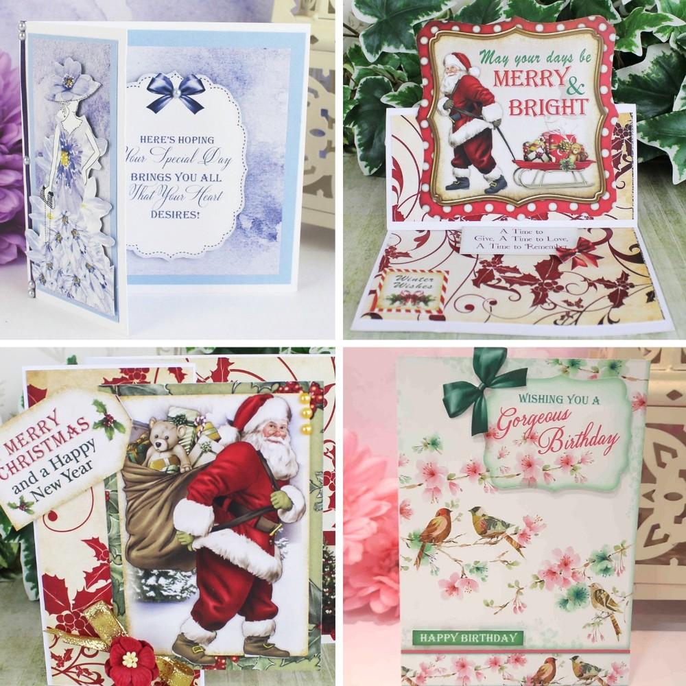 Santa Claus and Blossoming Cardmaking Kit - Makes 40 Cards