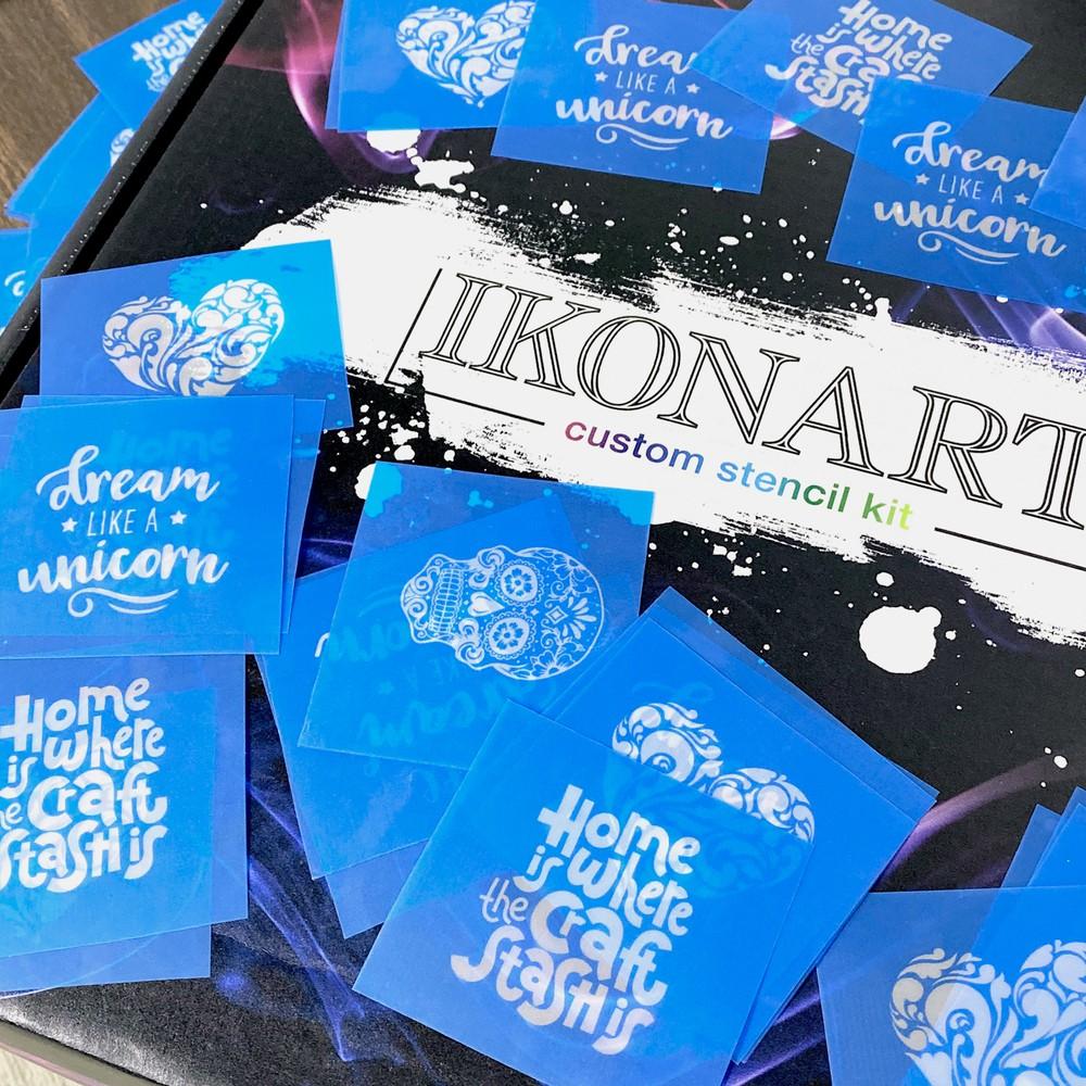 IKONART Stencil Film Blue