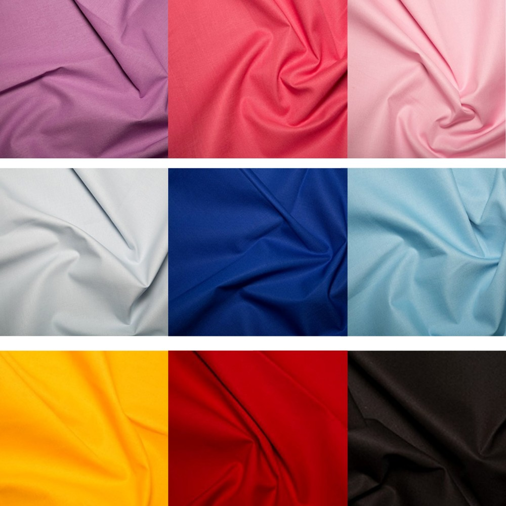 Plain Dyed Poly Cotton Fabric X 9 Meter