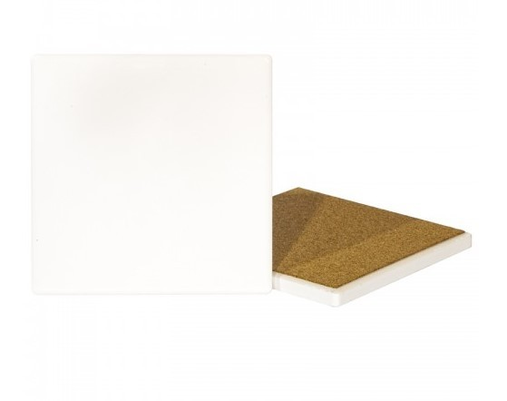 Makers Blanks Sublimation Ceramic Coaster - Square Pack of 2