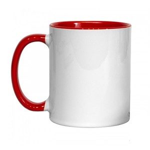 Makers Blanks Sublimation Red Inner and Handle Mug - 11oz