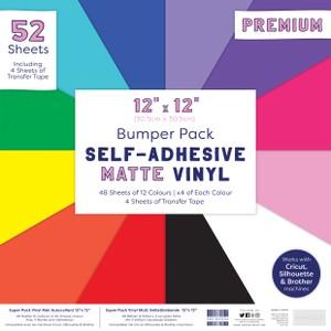 First Edition 12x12 Matt Vinyl Pack - 48 Sheets & Transfer Tape