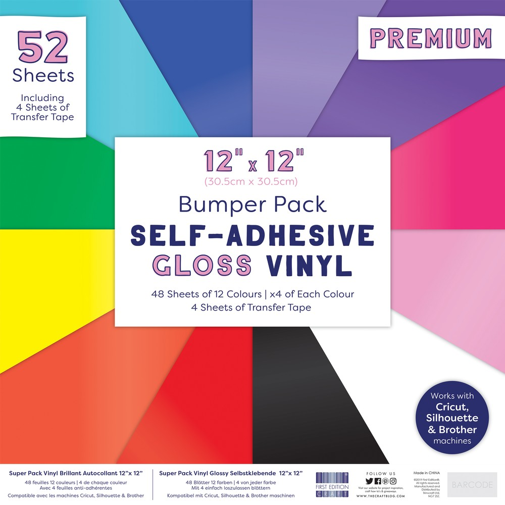 First Edition 12x12 Gloss Vinyl Pack - 48 Sheets & Transfer Tape