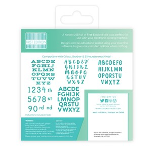 First Edition Digital Dies USB - Alphabets & Numbers
