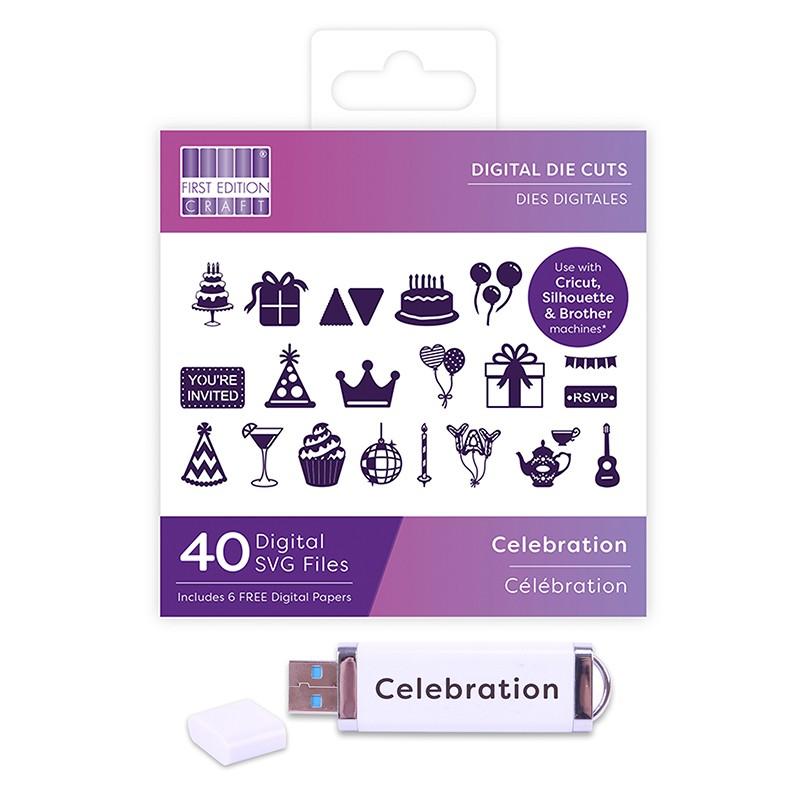 First Edition Digital Dies USB - Celebration