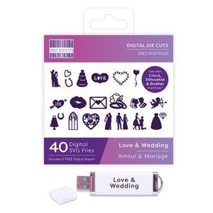 First Edition Digital Dies USB - Love & Wedding
