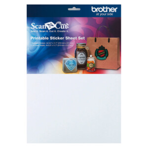 Brother ScanNCut Printable Sticker Sheet Set Multicolour