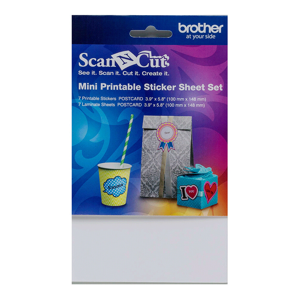 Brother ScanNCut Mini Printable Sticker Sheet Set