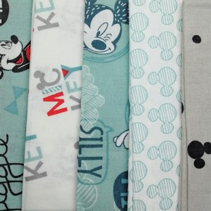 Disney™ Mickey Mouse Printed Fat Quarter Pack X 5