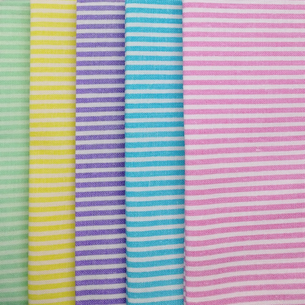 Craft Cotton Company Pastel Stripes Fat Quarter Pack X 5