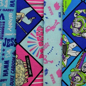 Disney™ Toy Story Bo Peep & Buzz Lightyear Fat Quarter Pack X 4