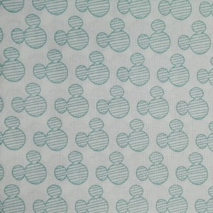 Disney™ Mickey Mouse Mint Silhouette Fabric X 1 Meter