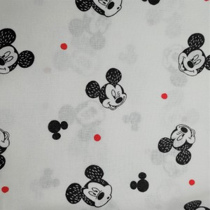 Disney™ Mickey Mouse White Faces Fabric X 1 Meter