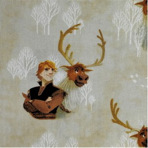 Disney™ Frozen 2 Kristoff & Sven Watercolour Fabric X 1 Meter