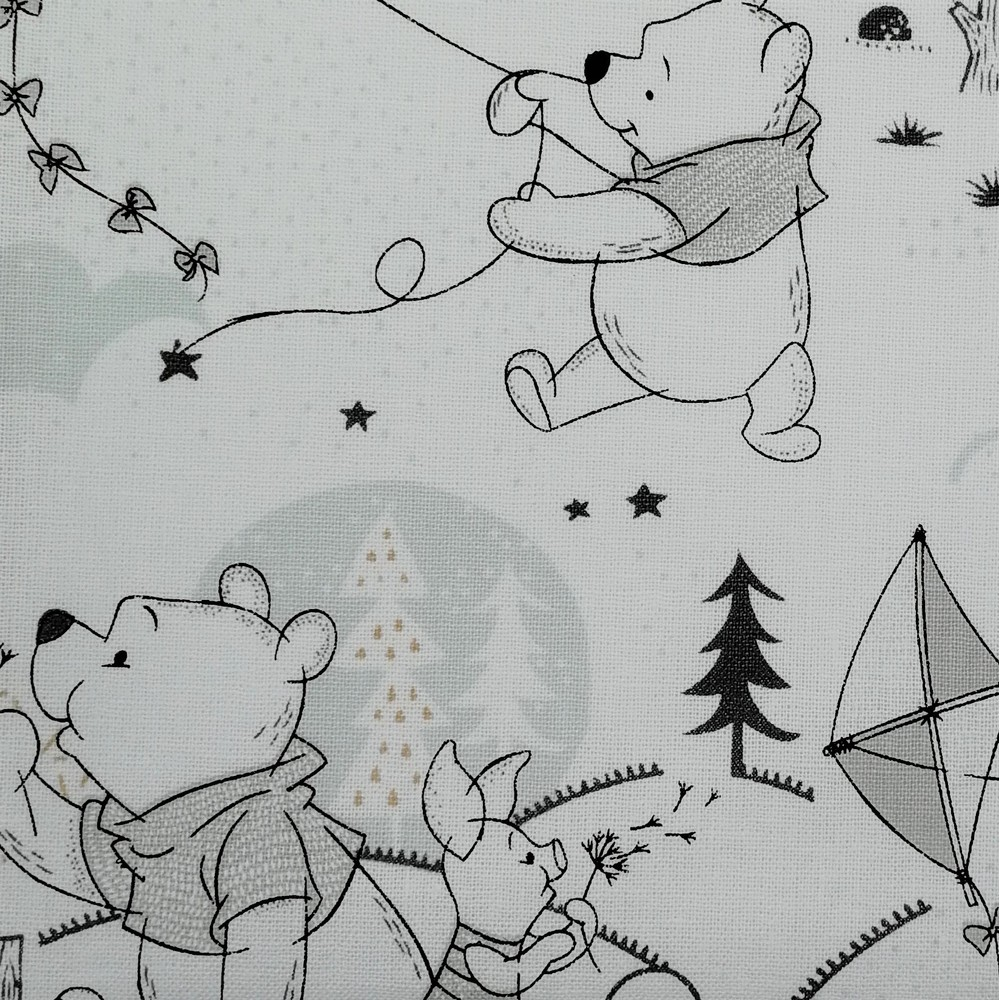 Disney™ Winnie the Pooh Woodland White Fabric X 1 Meter