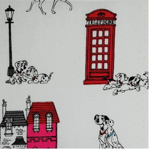 Disney™ 101 Dalmatians London Town Fabric X 1 Meter