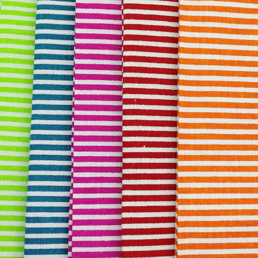 Craft Cotton Company Bright Stripes Fat Quarter Pack X 5