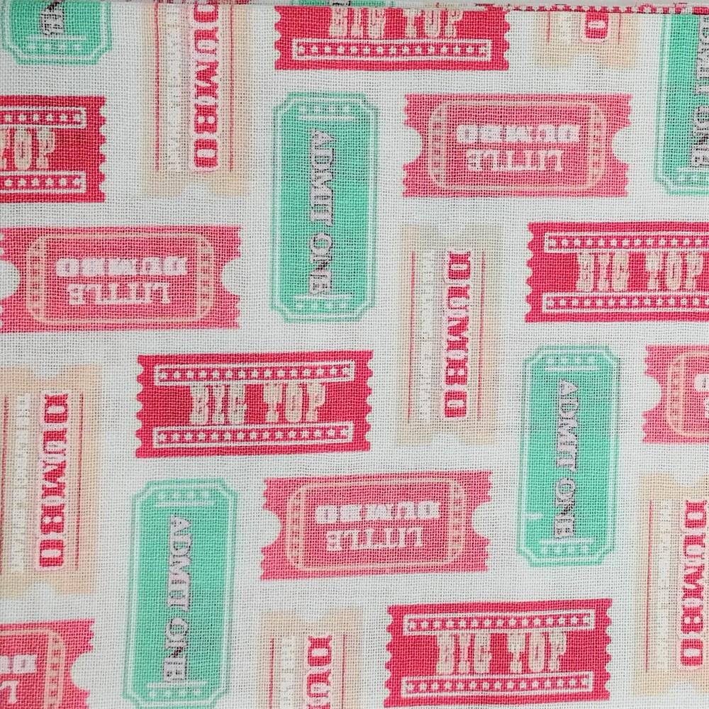 Disney™ Dumbo Pink Tickets Fabric X 1 Meter