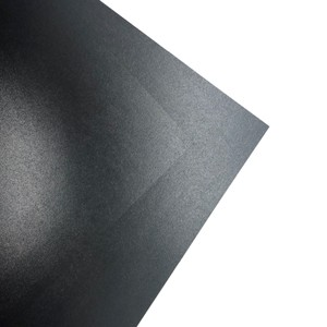 Makers 12X12 Premium Pearlescent Cardstock 300gsm X 12 Sheets Black