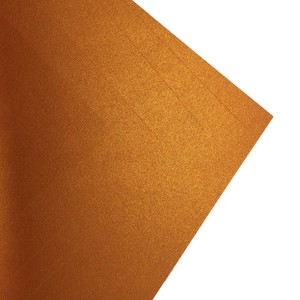 Makers 12X12 Premium Pearlescent Cardstock 300gsm X 12 Sheets Copper