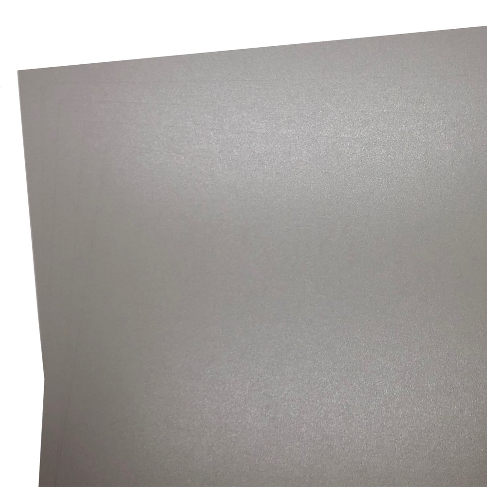Makers 12X12 Premium Pearlescent Cardstock 300gsm X 12 Sheets Grey