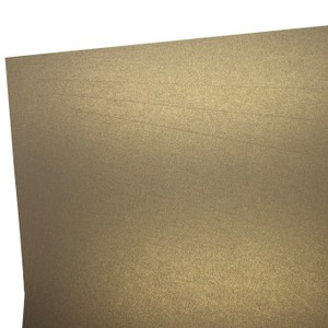 Makers 12X12 Premium Pearlescent Cardstock 300gsm X 12 Sheets Pale Gold