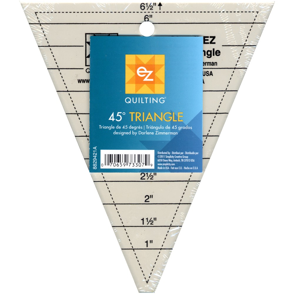 EZ Quilting 45 Degree Triangle Template