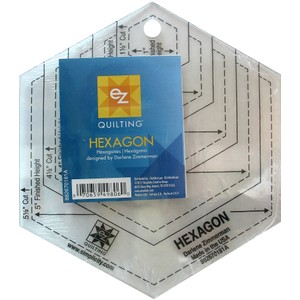Hexagon Shapes Acrylic Template