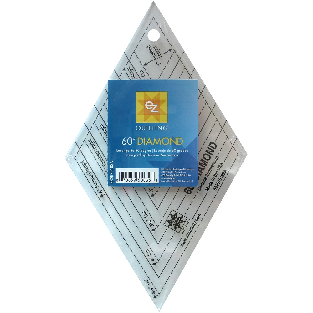 EZ Quilting 60 Degree Diamond Acrylic Template