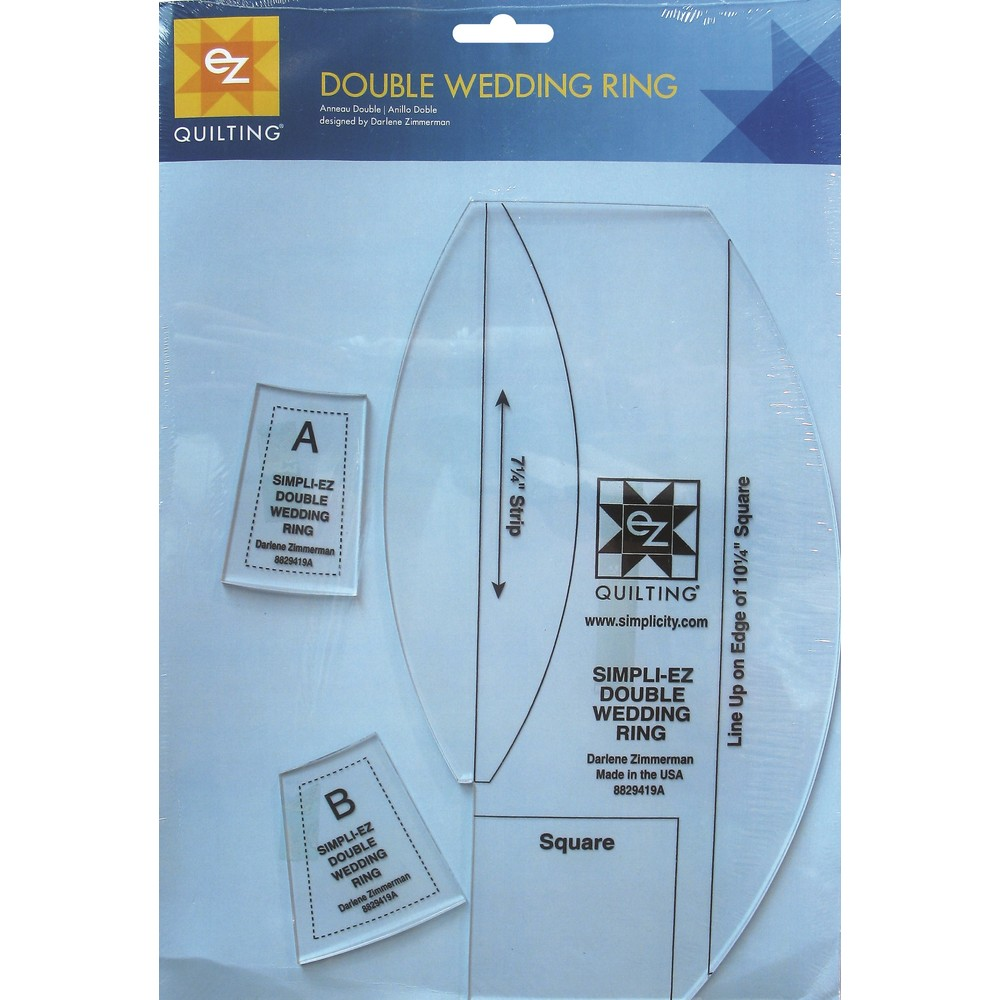 EZ Quilting Double Wedding Ring Acrylic Template