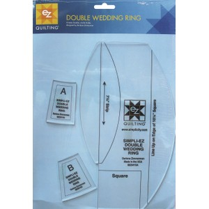 Double Wedding Ring Acrylic Template