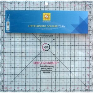 "Leftie-Rightie Square 12.5"" Acrylic Template"
