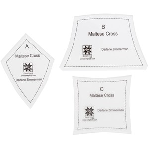 Maltese Cross Acrylic Template
