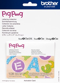 Brother ScanNCut PigPong Lettering Collection Activation Card