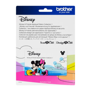 Brother ScanNCut Disney Card No3 - Mickey & Friends Applique Pattern Collection X 33 Designs