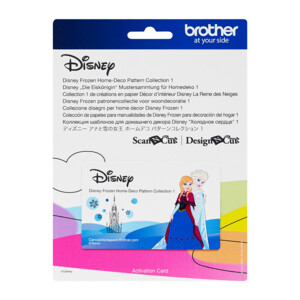 Brother ScanNCut Disney Card No4 - Frozen Home-Deco Pattern Collection X 27 Designs