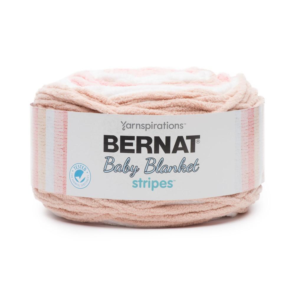 Bernat Baby Blanket Stripes 300g Coral Bells