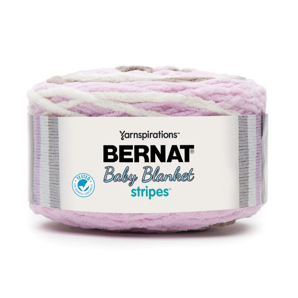 Bernat Baby Blanket Stripes 300g Rosebud