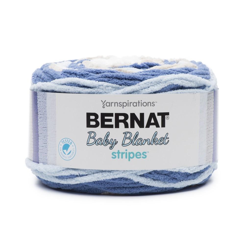Bernat Baby Blanket Stripes 300g Stonewash
