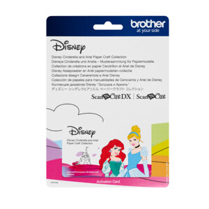 ScanNCut Disney Card No7 - Cinderella and Ariel Paper Craft Collection X 30 Designs