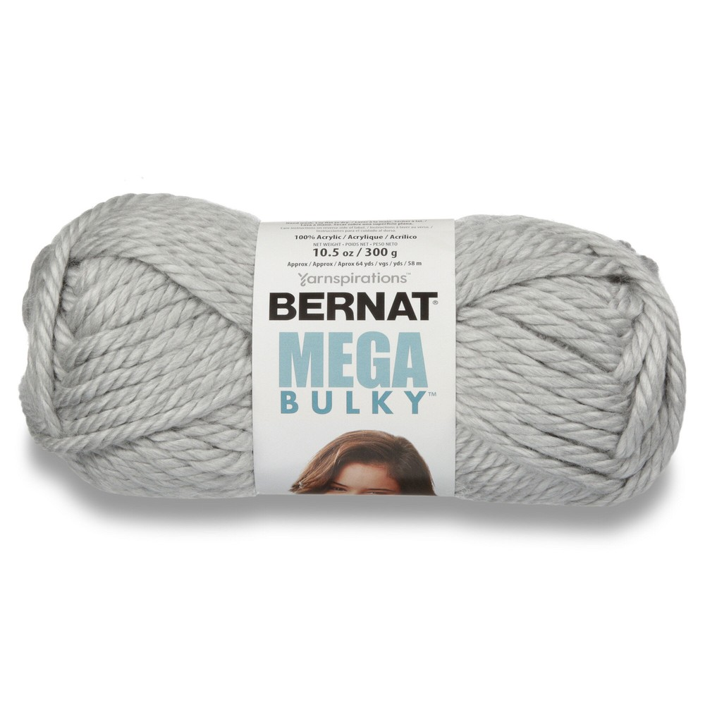 Bernat Mega Bulky 300g Light Grey Heather